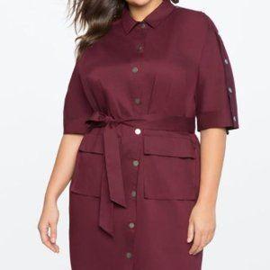 Eloquii button detail shirt dress
